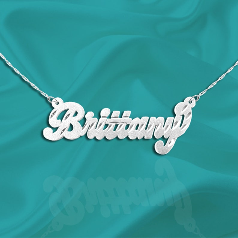 Sterling Silver Name Necklace  Personalized Name Necklace  image 0