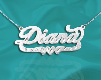 Name Necklace - Personalized Name Necklace - Sterling Silver Name - Handcrafted Designer - Customized Name - Name Jewelry Gift - Made in USA