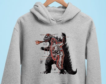 Boys Kids Japanese Godzilla Hoodies Hooded Sweatshirt Pullover Tops Outerwear
