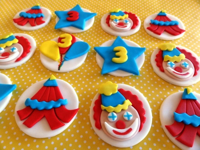 Other Baking Accessories Circus Lion Edible Cupcake Toppers Decoration Baking Accs. & Cake Decorating Clown Big Top Circus