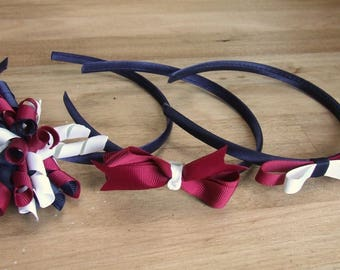 School Headbands, School Hair Accessories, School Bows, Made to Order