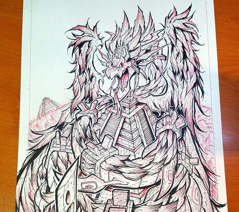 Kaiju Epic Cover Art w/ Custom Sketch image 0