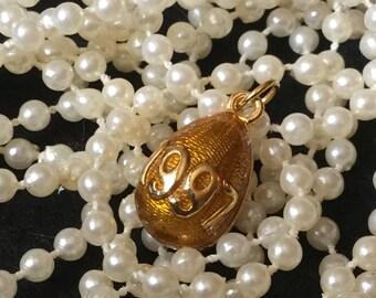 Vintage Joan Rivers Goldtone Enamel Egg 1997 Charm or Pendant - FREE USA SHIPPING!