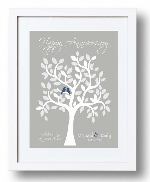 Silver Wedding Anniversary Gift Ideas For Parents: Items Similar To 25th Anniversary Gift For Parents