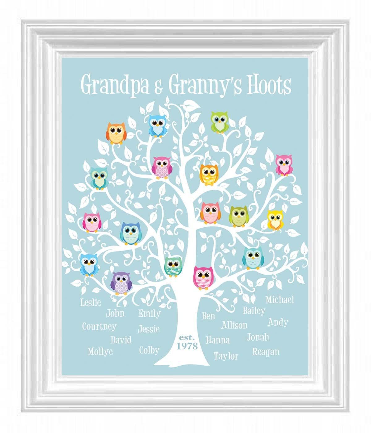 Großeltern personalisiert Geschenk Opa & Oma Stammbaum mit   Etsy