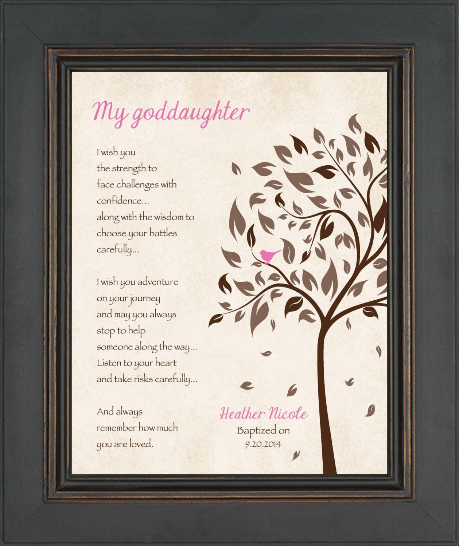 Goddaughter Gift 8x10 Print Christening Gift Personalized Etsy