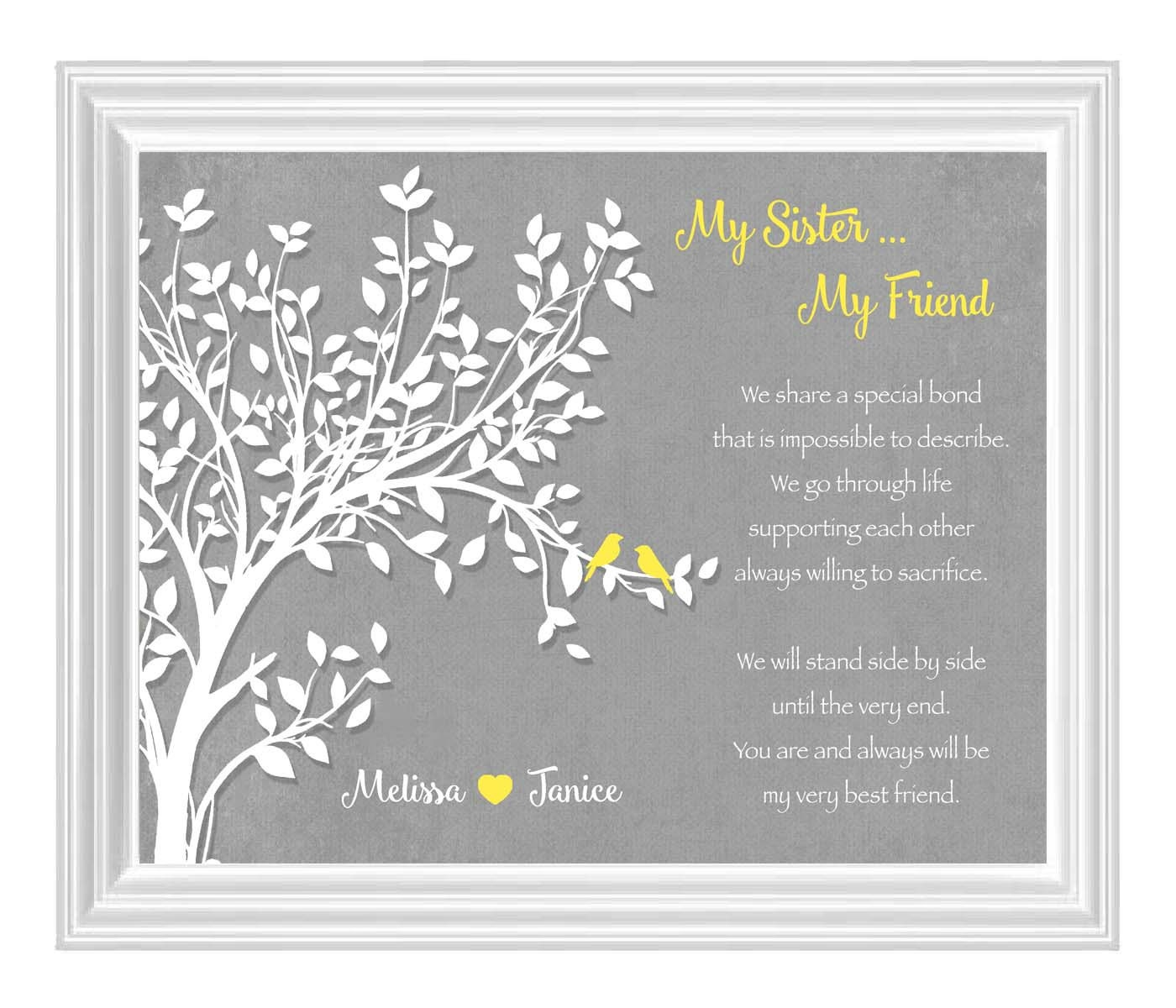 Sisters Gift Print Personalized Gift For Your Sister Etsy