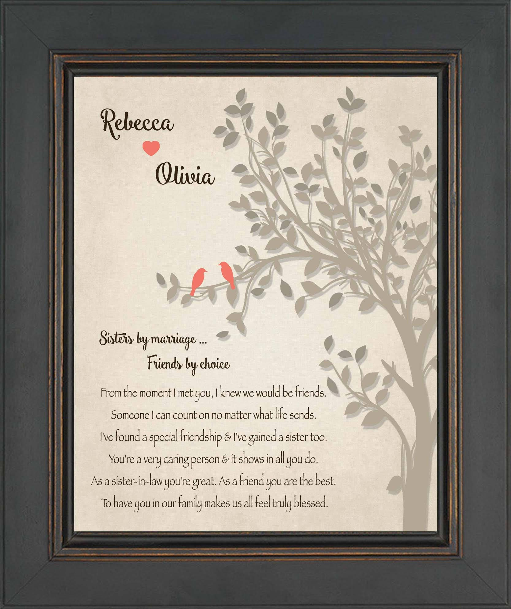 Sister In Law Personalized Gift Step Sister Gift Wedding Etsy
