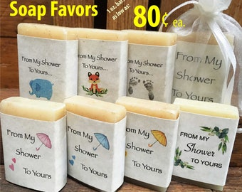 baby shower favors-from my shower to yours-party favors-mini soap favors-favors-1 oz guest soap.