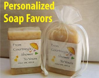 bridal shower favors soap favors soap party favors baby shower personalized soap favors baby soap favors wedding favors 4 oz.