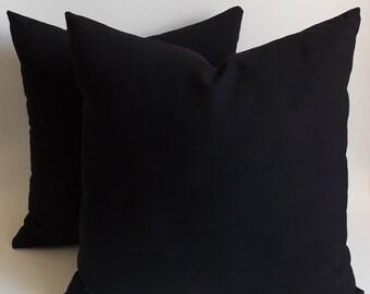 Black throw pillows   Etsy