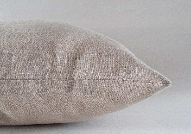 Natural Beige Linen Pillow / Cushion Linen Cover / Decorative image 0