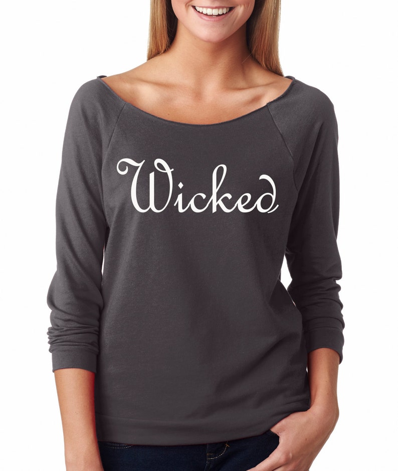 Halloween Wicked WItch Sweatshirt Wicked French Terry image 0