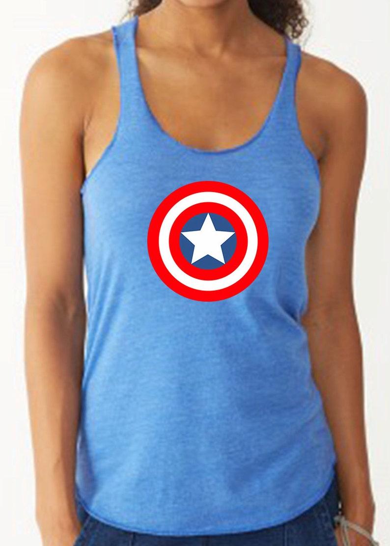 Captain America Avengers Shirt Running Tank Captain America image 0