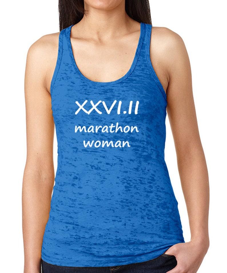 XXVI.II Marathon Woman Burnout Tank Marathon Tank        Half image 0