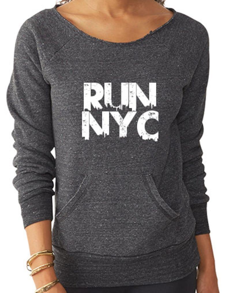 Run NYC Sweatshirt NYC Marathon Womens Running Sweatshirt NYC image 0
