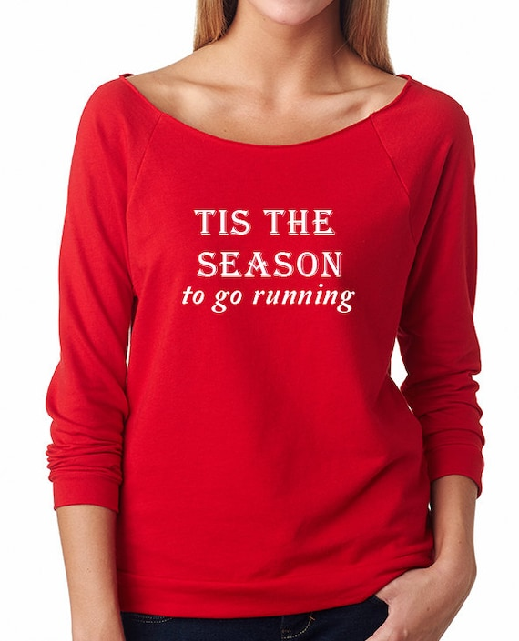 Tis the Season To Go Running Shirt Ugly Christmas Sweater   Etsy