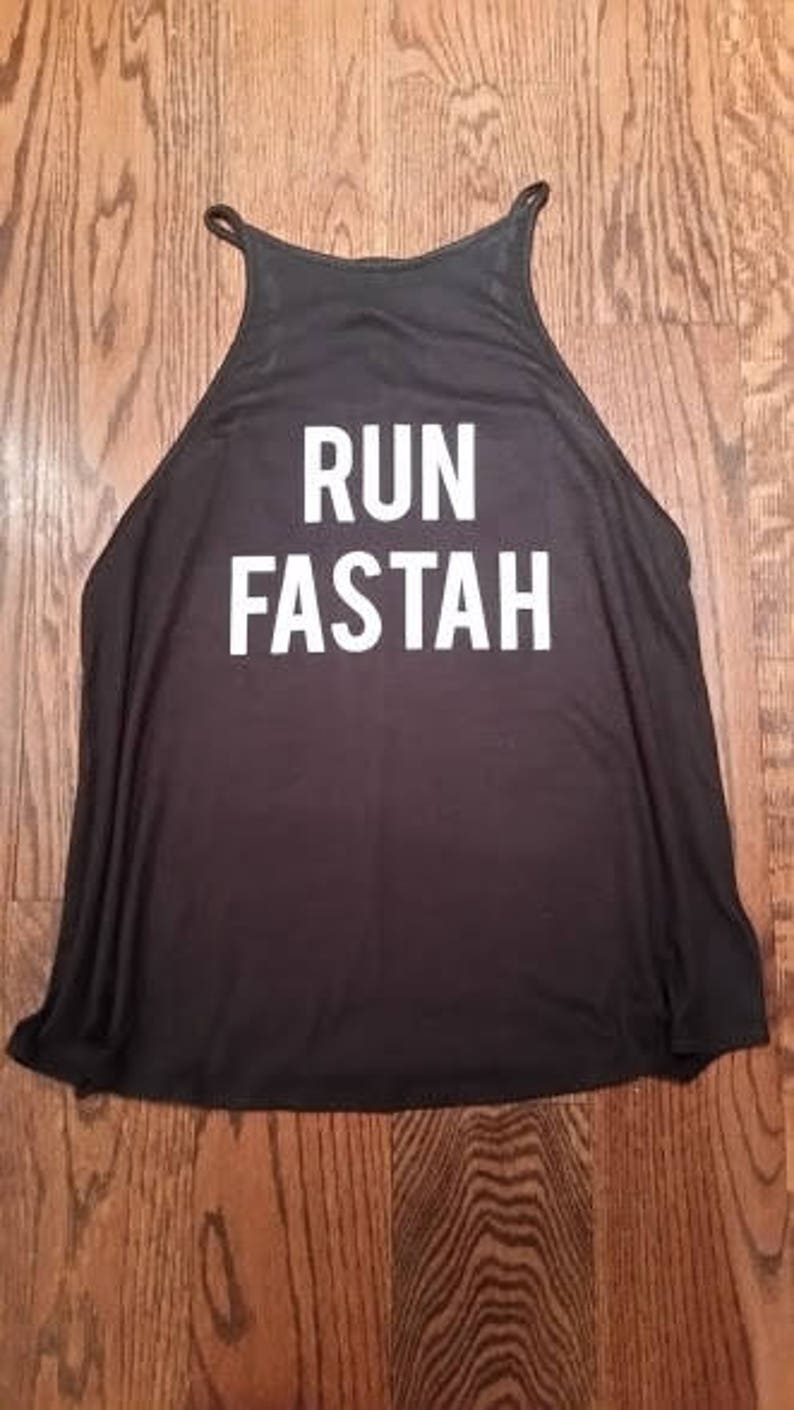 Run Fastah Running Tank Gym Tank Halter Style Tunic Tank image 0