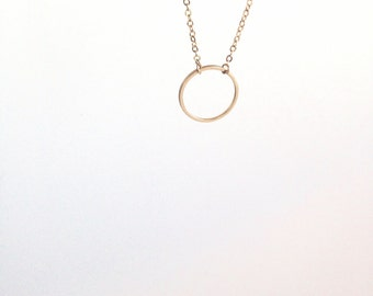 Infinity circle necklace - Dainty everyday jewelry