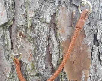 Braided Tether, Kangaroo Leather Keyfob