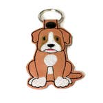 Boxer Dog Key Fob, Boxer Key Chain, Boxer gift, dog mom gift, dog dad gift, stocking stuffer, embroidered key fob