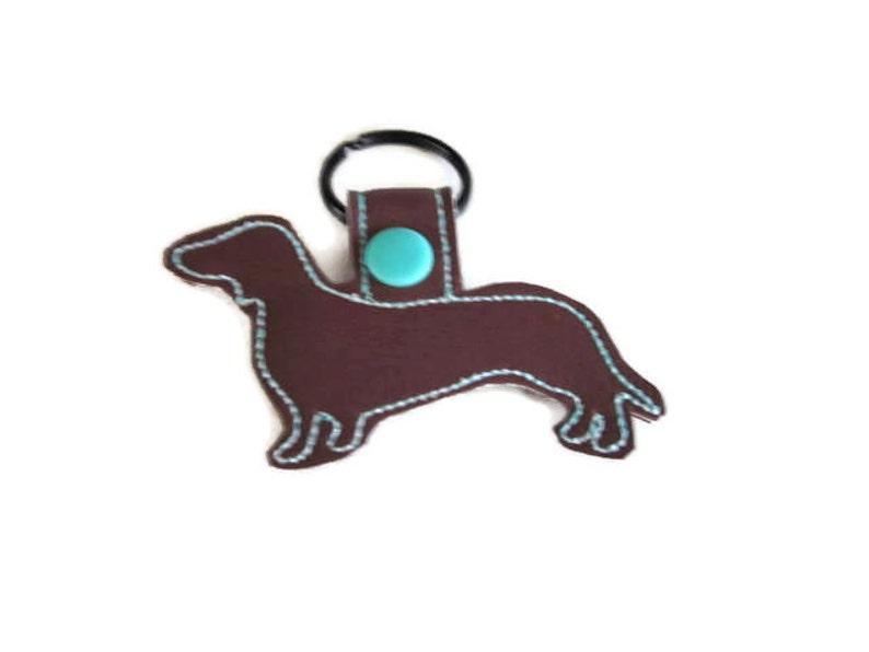Doxie Key Fob Doxie Keychain dog mom gift dog dad gift image 0