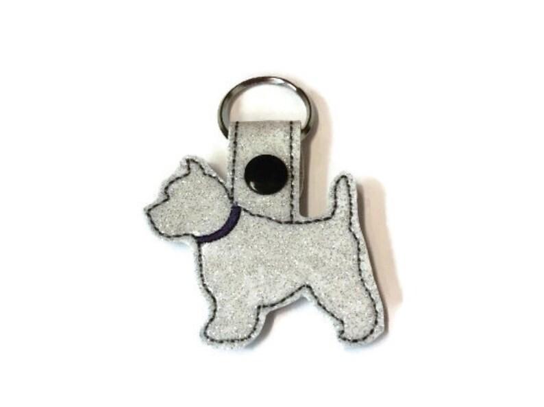 Westie Dog Key Fob Key Chain Westie lover gift  dog key image 0