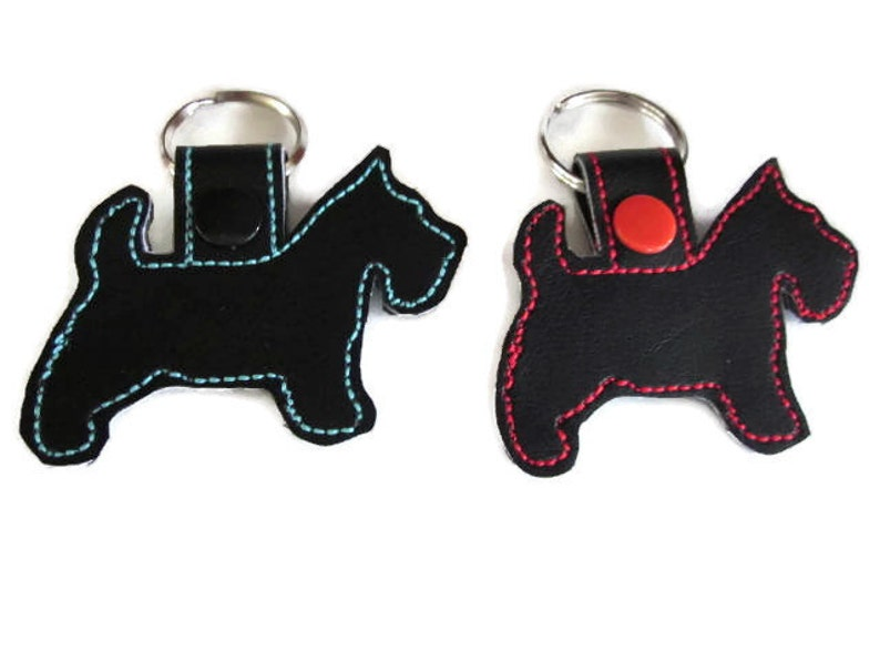 Scottie Dog Key Fob Key Chain Scottie lover gift  scottie image 0