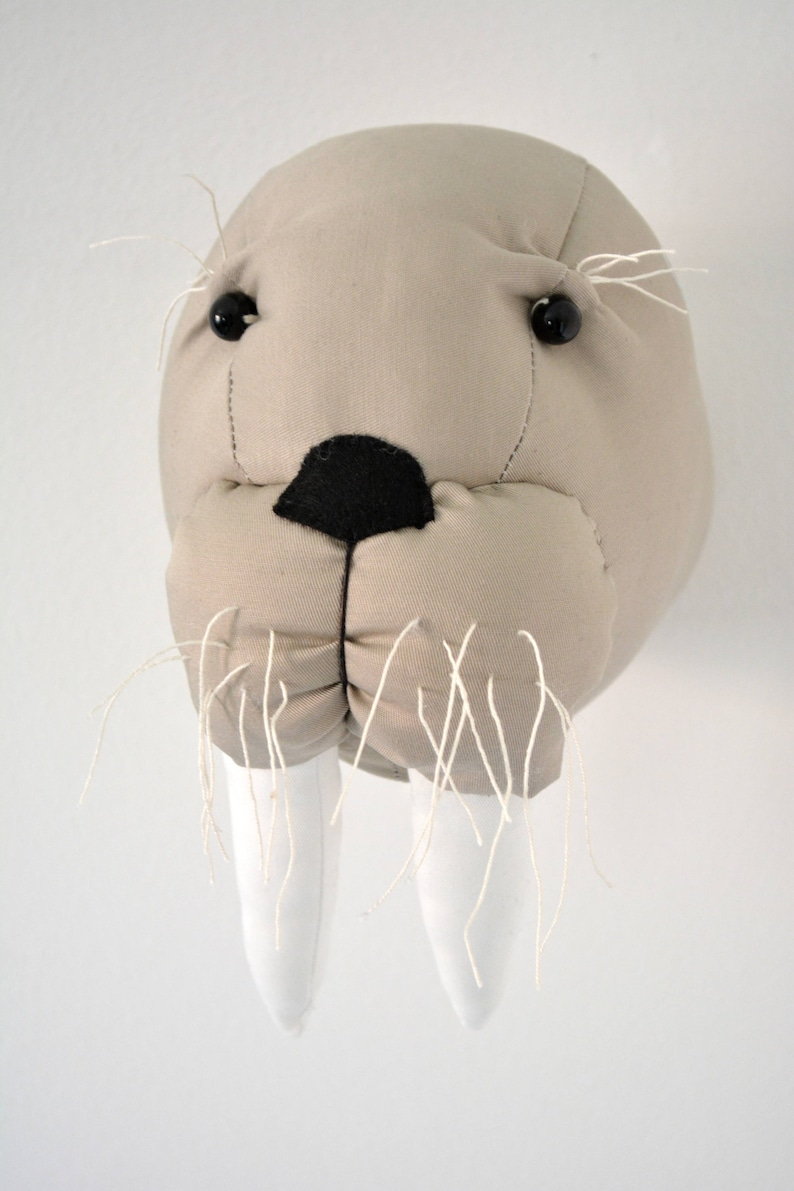 Walrus Faux TaxidermySeal Trophy Head Fabric Animal Trophywall mount walrus head
