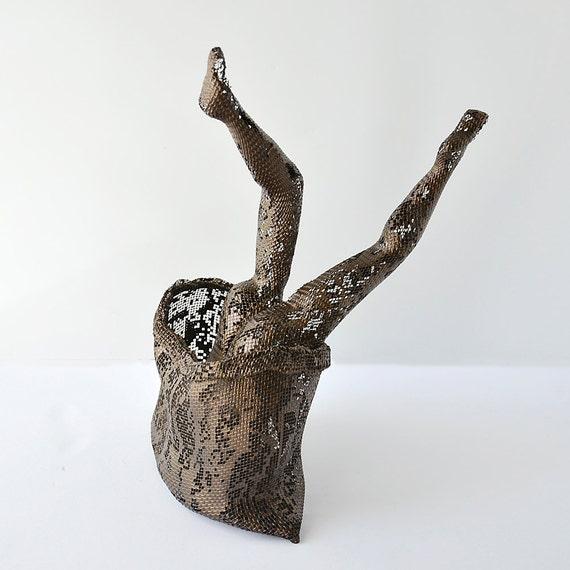 Wohnzimmer Dekoration Idee Metall-Skulptur moderne Kunst | Etsy