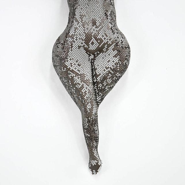 Sexy nackte Figur Metall-Skulptur Torso Draht Netz Skulptur | Etsy