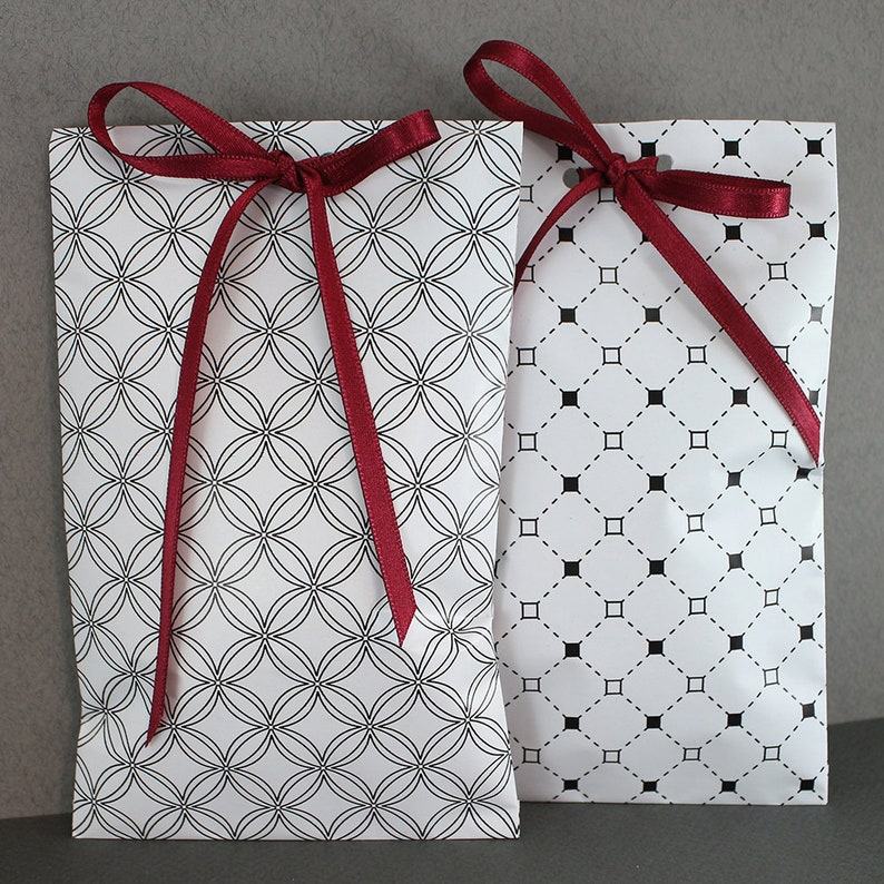 Handmade Damask Paper Bags Small Jewelry Birthday Gift Party Bridal Shower Wrapping Holiday