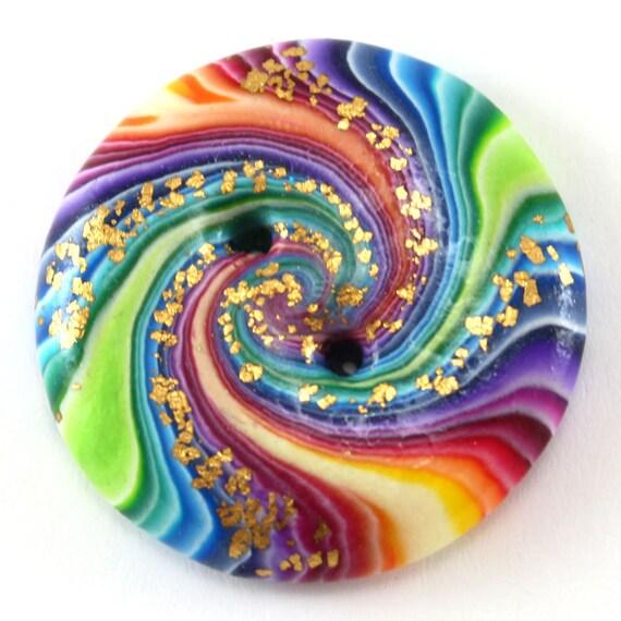 Rainbow swirl Boutons