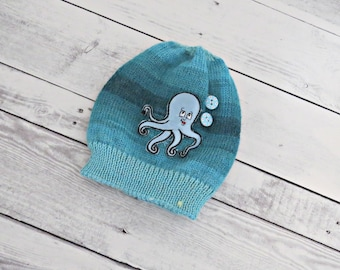 A light blue hat hat, Child knit cap, Infant warm hat,Gift for baby, Winter wool baby hat, Cap for baby boy, Baby beanie, Child hat, Hats