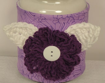 Purple Candle Cozy - Yankee Candle Cover - Mason Jar Cozy - Candle Holder