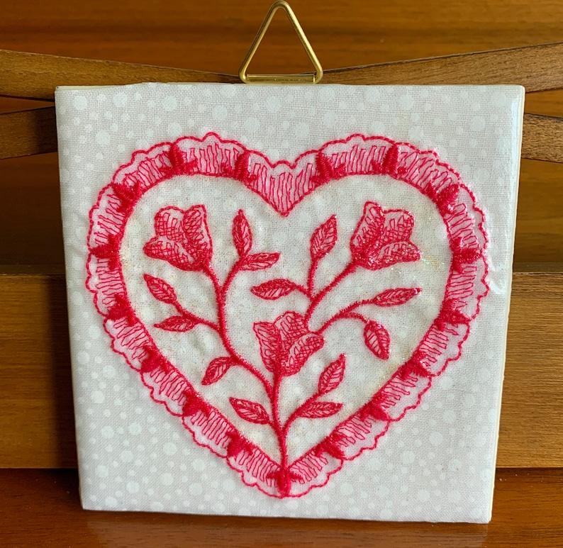 Decorative Heart Tile Decoration Heart Art Hearts Hearts Heart Artwork