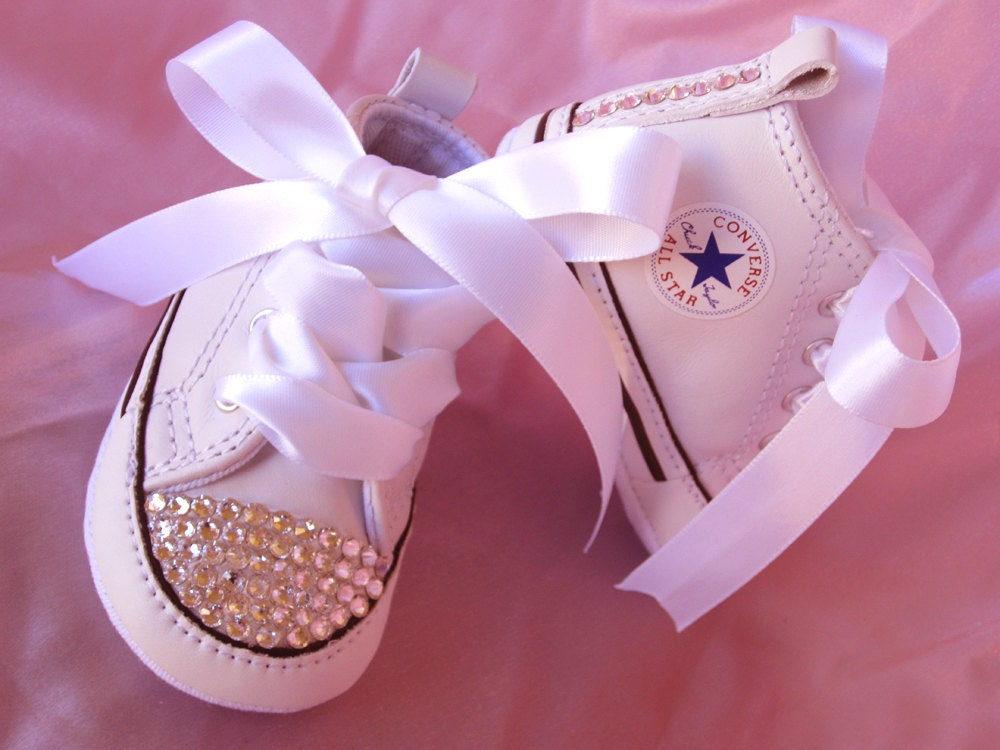Baby Bling Shoe Crystal Converse Christening Sneaker  1013dcafc