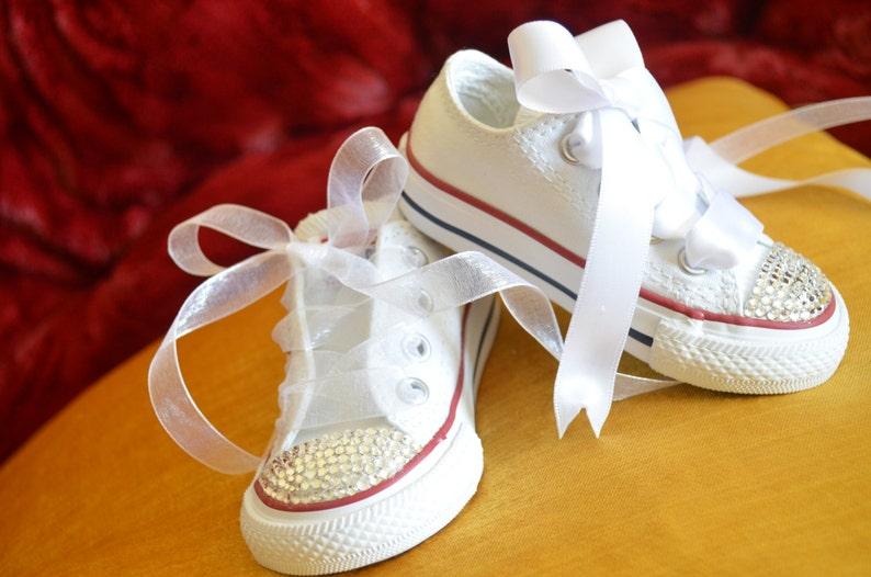 ff7db1902cca Bridal   Adult SIMPLY CRYSTALS Converse Wedding Sneaker
