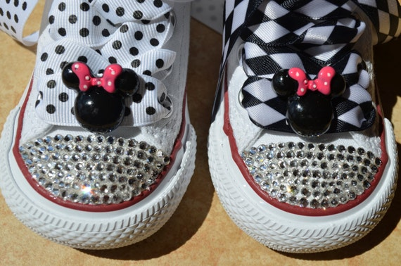 e5275660c38f2 MINNIE the MOUSE inspired Baby High-Top Lo-Top Girl Converse