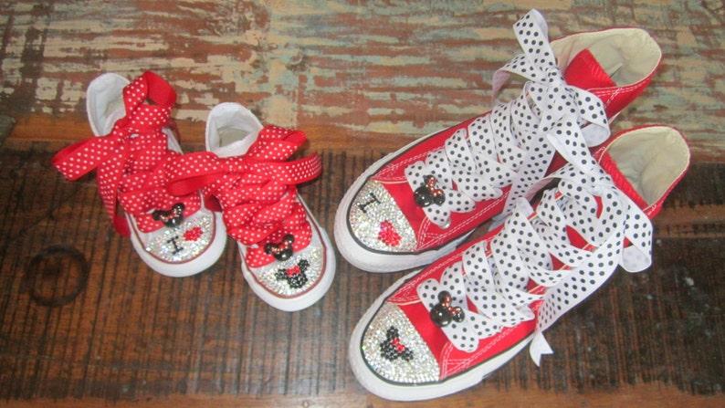 SOFT SOLE Minnie Converse Mommy   Baby Shoe Size 1-4 Swarovski Crystal Crib  Boot... SOFT SOLE Minnie Converse Mommy   Baby Shoe Size 1-4 Swarovski  Crystal ... 6be495486