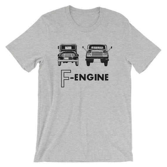 f engine fj40 fj43 fj45 fj55 landcruiser t shirt etsy etsy