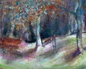 """Art print, Giclee print 10"""" x 14"""" of an original Painting, Fine Art, Landscape painting, Oil on canvas (SOLD) """"Woodlands"""""""