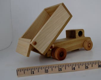 Wooden Dump Truck built to last, non-toxic glue, will ship 1-2 days, One year warranty, Made in the USA