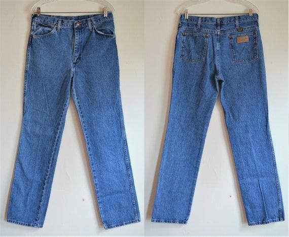 Vintage Wrangler Denim Blue Jeans Straight Leg Wai