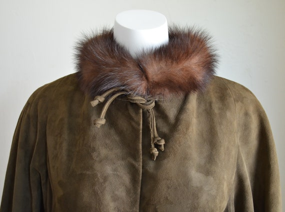 "Stunning Bonnie Cashin Sills Fur & Suede Coat ""Si… - image 6"