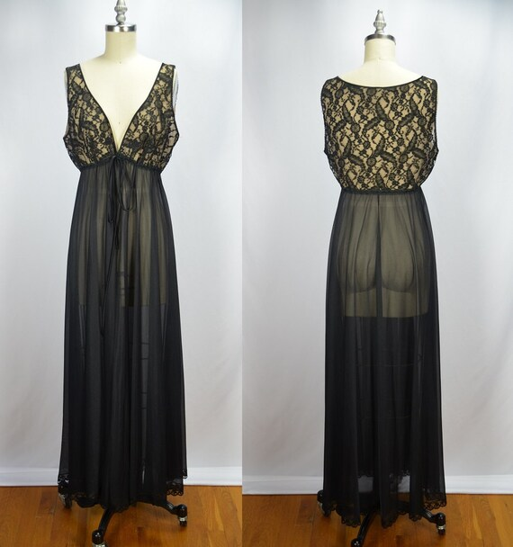 1960s Vintage Lucie Ann Sleeveless Black Illusion… - image 2
