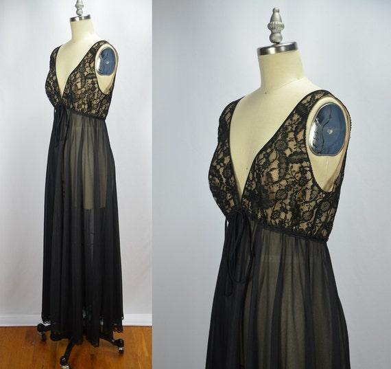 1960s Vintage Lucie Ann Sleeveless Black Illusion… - image 1