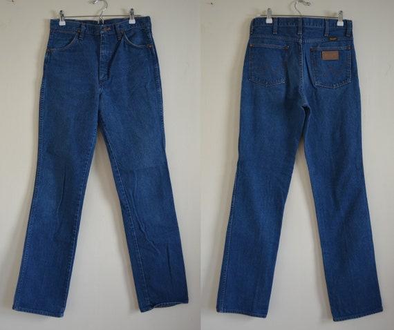 Vintage Wrangler Blue Jeans Denim Straight Leg Wai