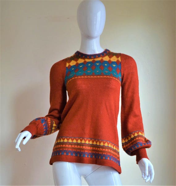 1970s Arpeja Sweater Tunic Perfection with Adorabl