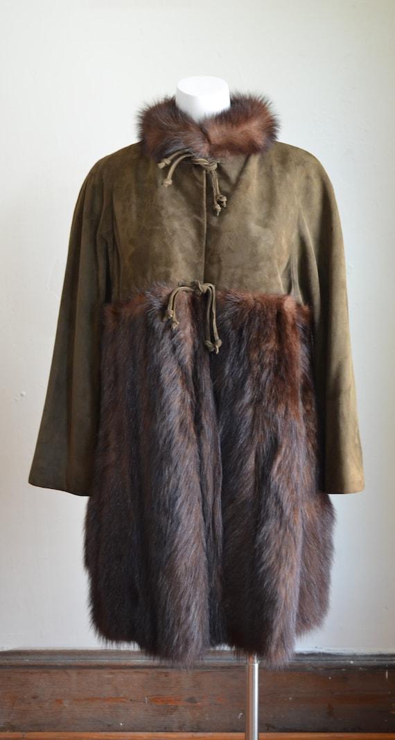"Stunning Bonnie Cashin Sills Fur & Suede Coat ""Si… - image 5"